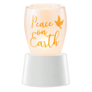 Peace on Earth Scentsy Miniduftlampe mit Unterteil