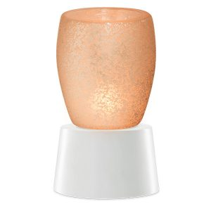 Cream Glass Scentsy Miniduftlampe mit Unterteil
