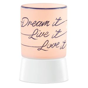 Dream it, Live it, Love it Scentsy Miniduftlampe mit Unterteil
