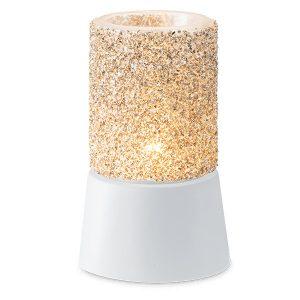 Glitter Silver Scentsy Miniduftlampe mit Unterteil