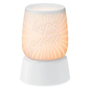 Hope and Peace Scentsy Miniduftlampe mit Unterteil