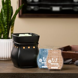 Satin Black Classic Curve Scentsy Duftlampe